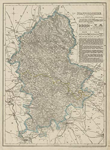 Amazon.com: Staffordshire Antique County map. Showing ... on maritime climate map, al hajar mountains map, imperialism map, european union map, balkanization map, north european plain map, liwa oasis map, kentucky bend map, capital map, language family map, humid continental map,