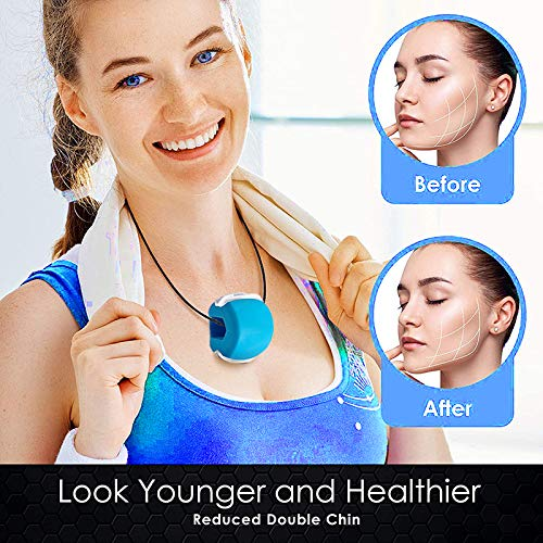 Jawzrsize, Face, and Neck Exerciser - Define Your Jawline, Slim and Tone Your Face, Look Younger and Healthier - Helps Reduce Stress and Cravings - Jaw Exerciser (blue)