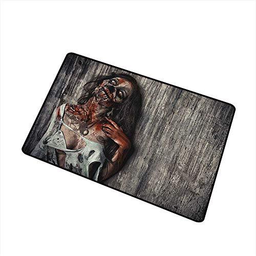 Zombie Modern Doormat Angry Dead Woman Sacrifice Fantasy Design Mystic Night Halloween Image All Season Universal 16