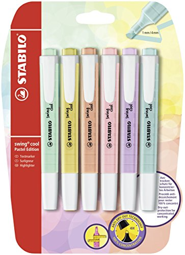 STABILO B-52740-10 Blister Swing Cool Pastel Highlighter (Pack of 6)