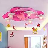 TY Kids Room Lights Creative Princess Lovely Ceiling Light Girl Room Cartoon Child Bedroom Lamp Pink £¨110-240V£