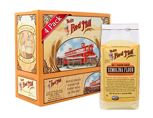 Bob's Red Mill Semolina Pasta Flour, 24-ounce (Pack of 4) (Homemade Pasta Flour)