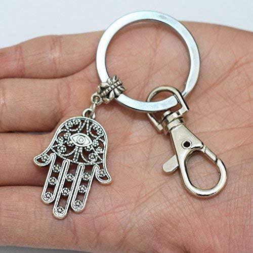 Hamsa Keychain, Hamsa Key Ring, Hand of Fatima, Evil Eye, Personalized Keychain, Custom Keychain, Charm Keychain