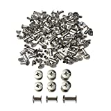 #9: 75 Sets Round Flat Head Binding Chicago Screws Belt Tack Screw Post Fastener Leather Repair Screws for DIY Leather Decoration Document Book Album Bookbinding 5mm x 6/10/12mm 25 PCS Per Size