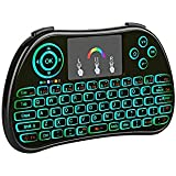 Estink Mini Wireless Keyboard , Colorful backlit 2.4Ghz Rechargeable Mouse Touchpad Combo for PC, PAD, Google Android TV Box, Xbox 360, Smart TV, Raspberry Pi 3 and more(2017 New Version)
