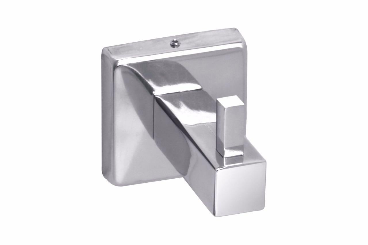 GARBNOIRE Square Series Chrome Plated Robe Hook/Towel Hook/Clothes Hook/Coat Hook for Bathroom/Kitchen/Hotels/Garage
