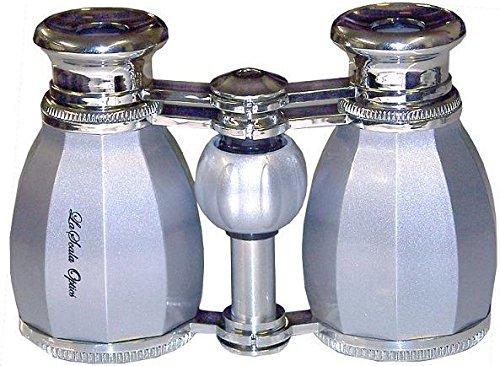 Lascala Optics Hamlet Opera Glasses, Platinum Body, Silver Rings LSH-