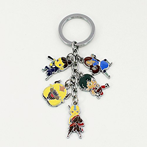 Avatar: The Last Airbender keychain Aang Prince Zuko Katara Sokka Appa Pendant (1 -