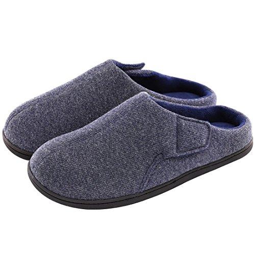 32a3a7736f Men's Comfort Velvet Memory Foam Slippers Short Plush Clog Indoor & Outdoor Orthopedic  Shoes w/Adjustable Hook&Loop - Buy Online in Oman.