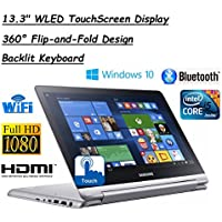 Flagship Model Samsung 13.3 Full HD (1920x1080) Spin 2-in-1 High Performance TouchScreen Laptop, Intel Core i5-6200U, 8GB RAM, 1TB HDD, Backlit Keyboard, Windows 10