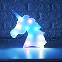 WHATOOK 3D Unicorn LED Lamp Decorative Marquee Signs Letter Flamingo Night Light Wall Decoration for Living Room,Bedroom,Home, Christmas