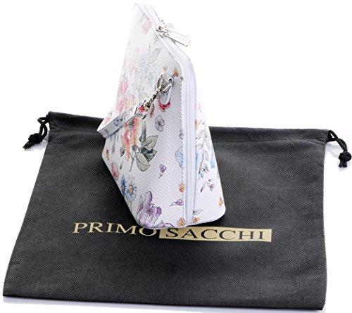 Un Marque En La Peinte Blanc Ou Italien Bandoulière Petit Sac nbsp;comprend Floral Sacchi® Cuir Primo À Main Protecteur Rangement De T6fBw