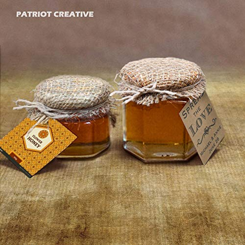 Hexagon Jars Gold Lid (30pcs 4.0 oz) Hexagon Glass Jars with 30pcs Gold Plastisol Lined Lids for Jam Honey Jelly Wedding Favors Baby Shower Favors Baby Food DIY Magnetic Spice Jars Crafts Canning Jars by PATRIOT CREATIVE (Image #4)