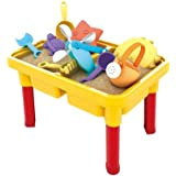 Kids Sand Table with Cover Water Table - Sand & Water Table for Toddler Sandbox Activity Table with Cover Sand Table Sensory