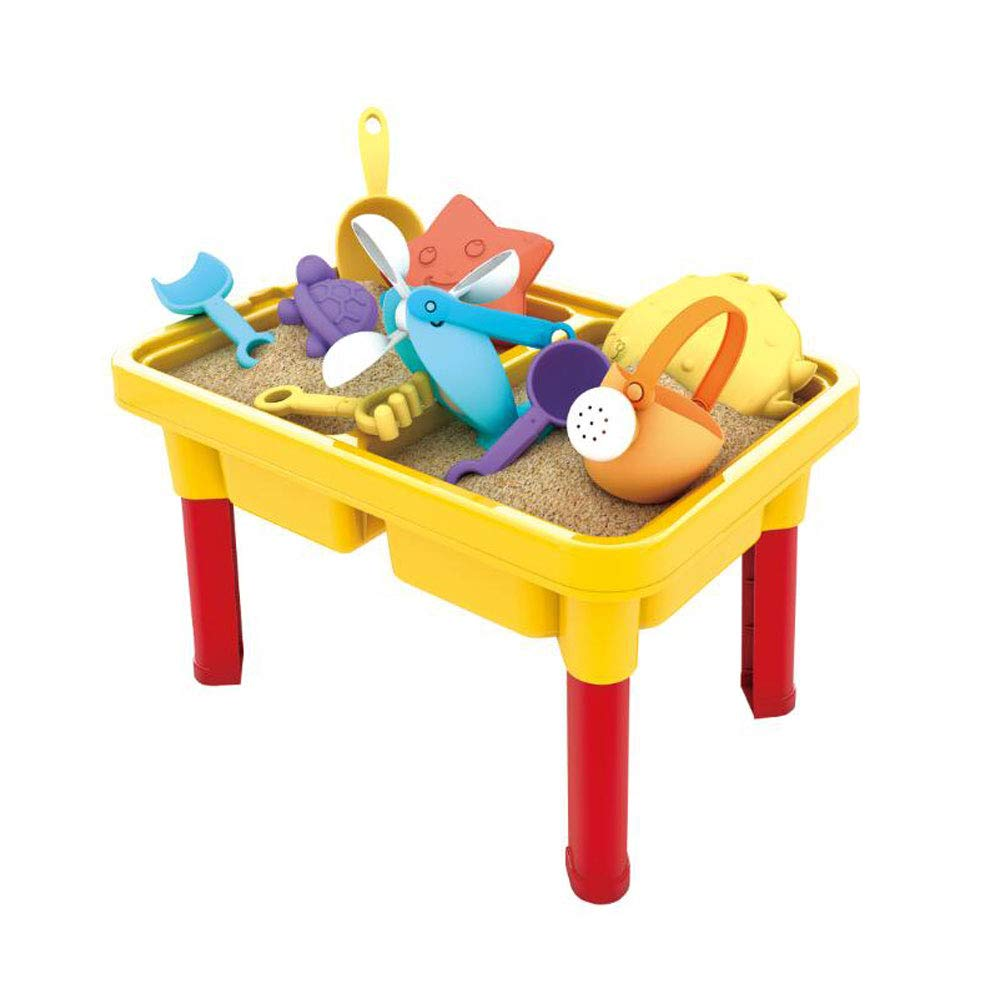 SOWOW Sand and Water Table with 15 PCS Sandbox Toys for Toddlers, Children Educational Toy