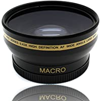 58MM Wide Angle Macro Lens for Canon EOS Rebel T6 T5 T3 SL2 SL1 18-55mm