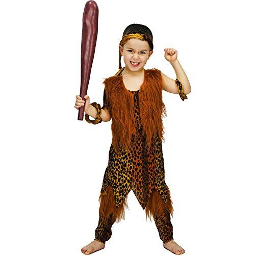 DSplay Savage Boy Costume (4-6 Years, Leopard Print)