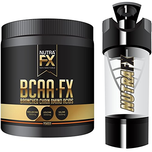 NutraFX BCAA FX Branched Chain Amino Acids 2:1:1 Ratio Original Improved Muscle Building Recovery Formula (Unsweetened With Shaker)