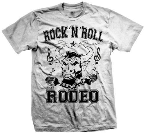 T-Shirt Rock'n'Roll, Rockabilly, Punk, Hot Rod Wear, Rodeo, Bull (Weiss)