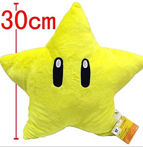 - 11'' Super Mario Bros yellow Plush Starman Star Plush toy doll best Xmas Gift for Kids