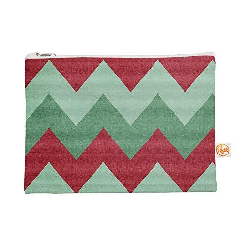 Kess eigene 12,5x 21,6cm Catherine McDonald Holiday Chevrons Alles Tasche