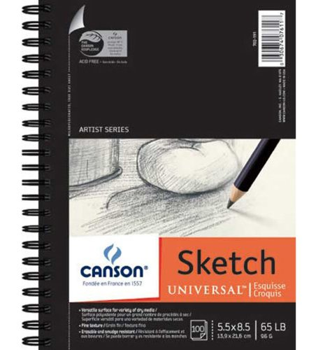 Canson Universal Sketch Pad 5.5X8.5 6 Pack