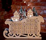 Clever Creations Wooden Village Sleigh Advent