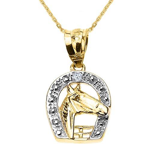 Gold Diamond Horse Charm - 5