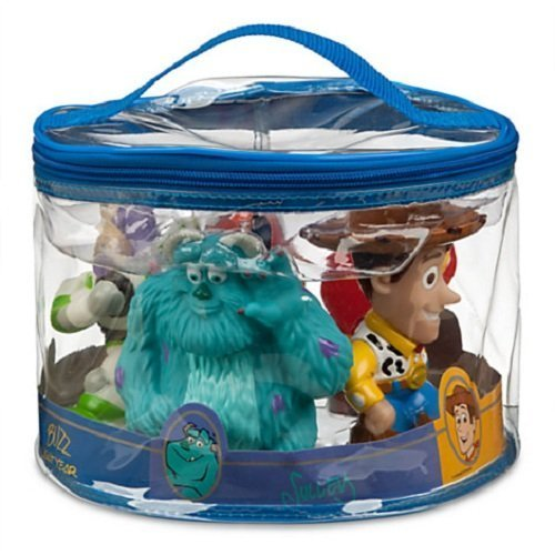Disney Pixar Toy Story Woody Buzz Sulley Nemo Mr Incredible Squeeze Tub Pool Toy Set of 5