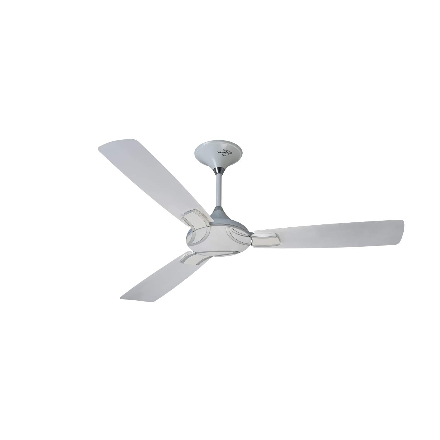 V Guard LEPO 48 1200mm Ceiling Fan Pearl WhiteSilver
