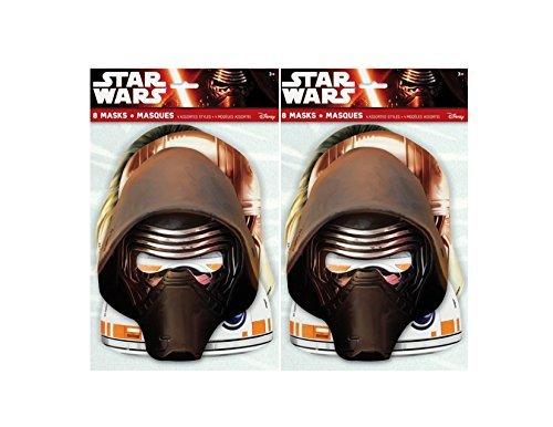 Star Wars Party Masks, 8ct (2 pack) ()