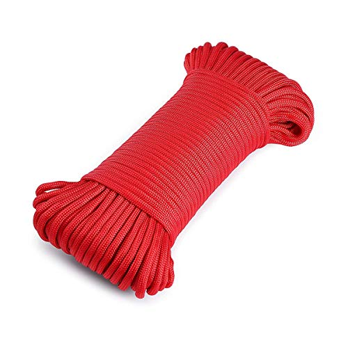 YAXuan 31M Climbing Rope Parachute Utility Cords Multi Function Parachute Cord Polypropylene and Polyester 4mm