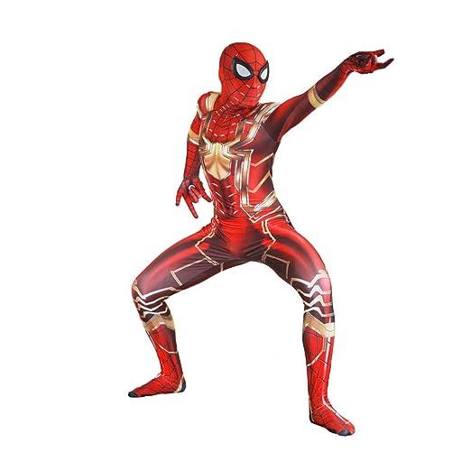 YIWANGO Adulto del Niño Disfraz De Spiderman Halloween Pelicula ...