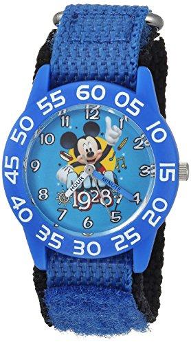 Disney Boy's 'Mickey Mouse' Quartz Plastic and Nylon Casual Watch, Color:Blue (Model: WDS000218)