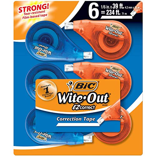 BIC Wite-Out Brand EZ Correct Correction Tape, 6-Count ()