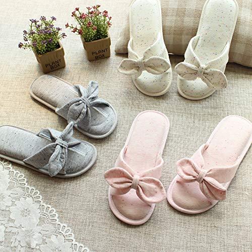 Japonais Style Pantoufles Femmes Chic Chaussons Antidérapantes Gris CTOOO gwaIOn