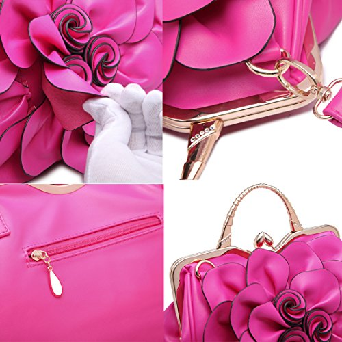 9156huang Women's Evening Clutches Handbags Wallets Wedding Totes Crossbody Bags by QIAODUO (Image #4)