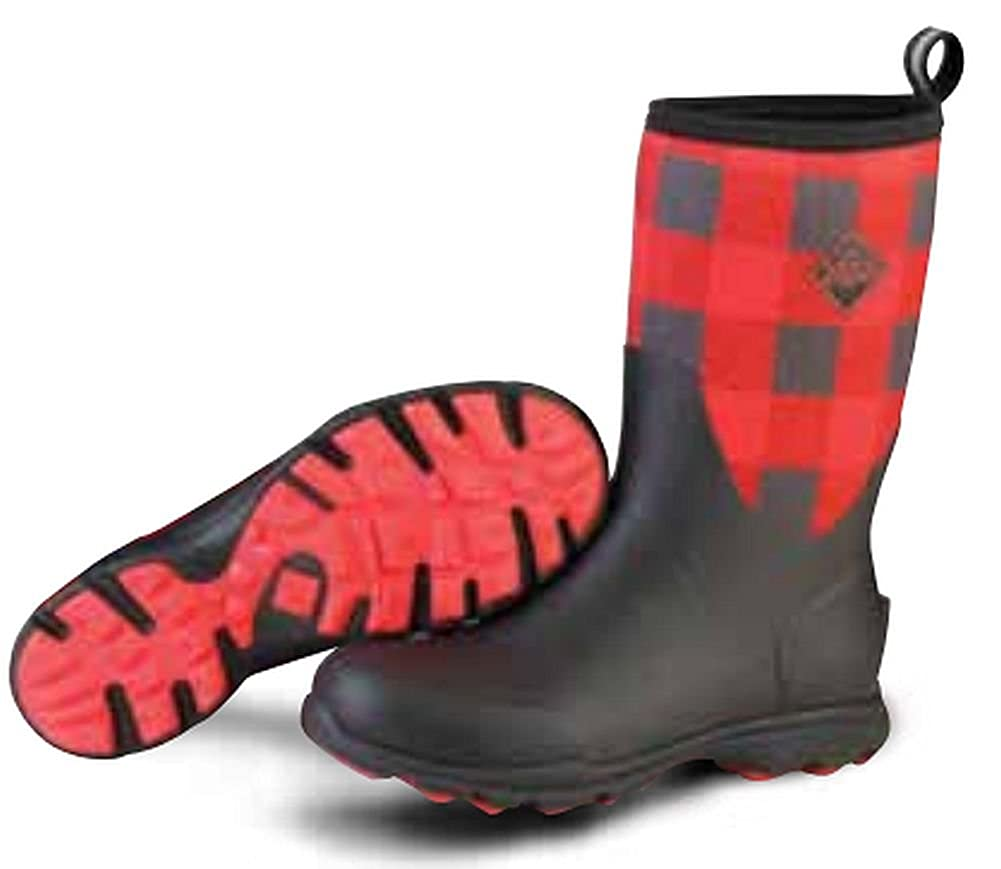 Black Red Plaid Muck Boot Men's Arctic Excursion Mid Winter Boot