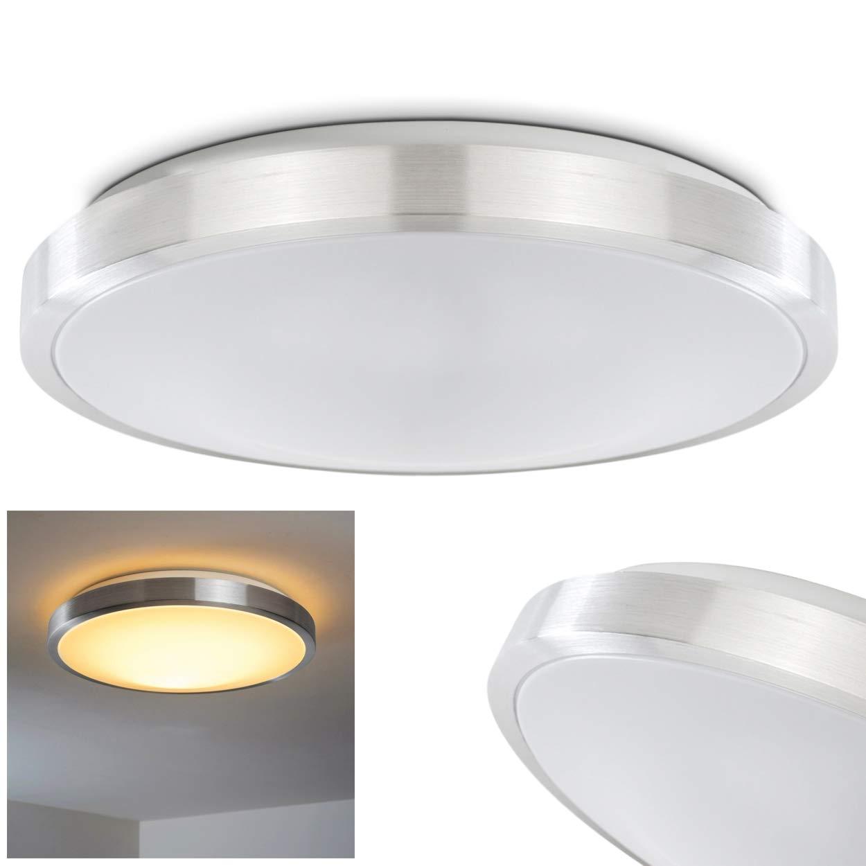 Led bathroom ceiling light 3000 kelvin 1800 lumen ip 44 amazon co uk lighting