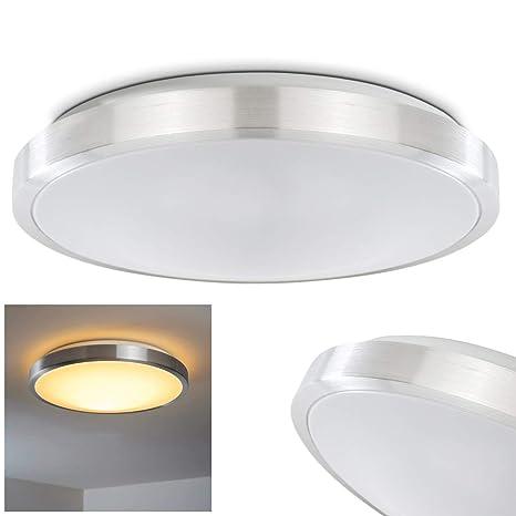 LED Deckenleuchte Sora aus Metall in einem modernen Design Die K/üche oder den Flur Das Wohnzimmer Helles warmwei/ßes Licht f/ür das Badezimmer Deckenlampe 880 Lumen 12 Watt 3000 Kelvin