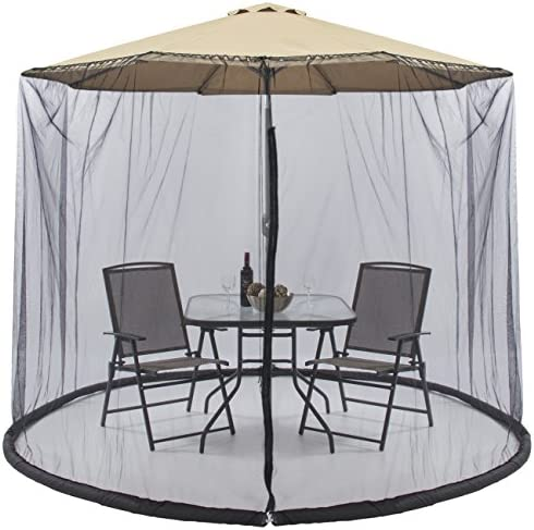 Best Choice Products Outdoor 9ft Patio Umbrella Bug Screen w/Zipper Door and Polyester Netting