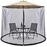 Best Choice Products 9ft Patio Umbrella Bug Screen w/Zipper Door. Polyester Netting – Black
