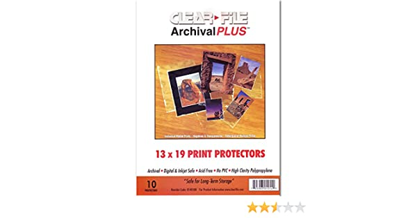 Archival-Plus Print Protector 014100B ARCHIVAL STORAGE-for Prints 13 x 19-100 Pack
