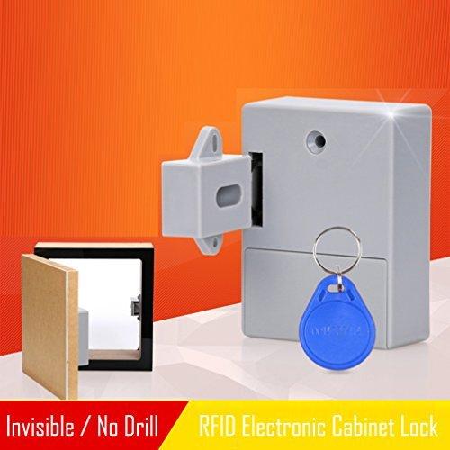 Candados RFID para armarios ocultos DIY Lock – cerradura electrónica de clóset, tarjeta RFID/etiqueta/entrada de pulsera,...