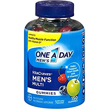 One A Day Men's VitaCraves Multivitamin Gummies, 150 Count