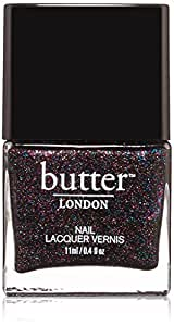 butter LONDON Nail Lacquer, Black & Blue Shades, The Black Knight