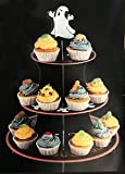 Charmed Fright Nite Spooky boo ghost 3 tier cupcake pastry stand