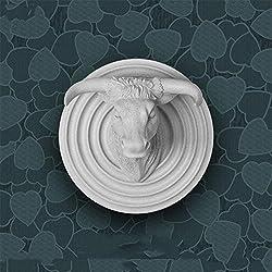 Greek Art Hand-Cast Resin Animal Head Wall Sculptures Wall Trophy Wall Hanging Decor - Wedding, Birthday, Holiday, Business Gift Idea (Bull)