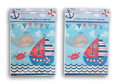 Nautical Themed First Birthday Party Favor Loot Bag - 16 -