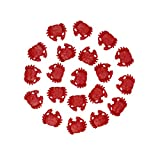 LJY 20 Pieces Resin Pencil Finger Red Crabs for Wedding Home Decor and Craft Project